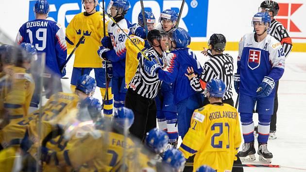 Mistrovství světa hokejistů do 20 let, skupina A: Švédsko - Slovensko, 31. prosince 2019 v Třinci.