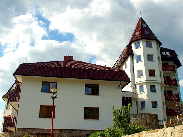 Ubytovna v Hrádku.
