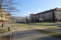 Náměstí TGM v centru Třince.