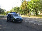 Místo nehody na Ostravské ulici ve Frýdku-Místku.