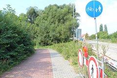 Cyklostezka u přehrady Olešná bude dlouho uzavřena.