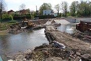 Přestavba Staroměstského stupně na řece Ostravici finišuje.