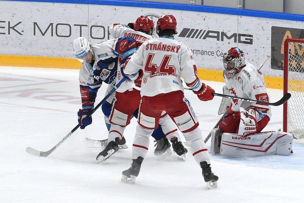 Brno 13.12.2020 - domácí HC Kometa Brno v modrém proti HC Oceláři Třinec