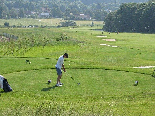 Ostravické golfové hřiště.