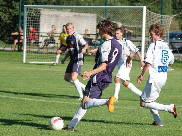 Snímek z utkání Raškovice - Smilovice. Ilustrační foto.
