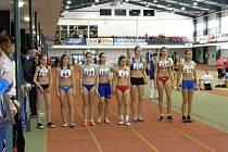 Helena Benčová (zcela vlevo), atletka Slezanu FM