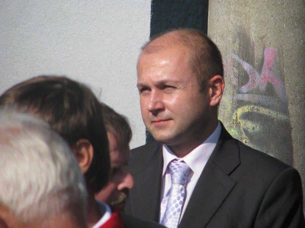 Slavnostního aktu se zúčastnil také předseda MSKFS Martin Bednář.