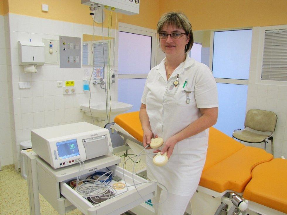 Kardiotokograf na gynekologicko-porodním oddělení Nemocnice ve Frýdku-Místku.