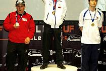 David Plasgura (vpravo) si ze světového šampionátu foosballistů přivezl tři bronzové medaile.