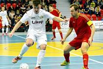Prvoligoví futsalisté Třince v domácím prostředí prohráli s favorizovanou Chrudimí 0:6.