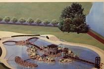 Studie rekonstrukce koupaliště u přehrady.