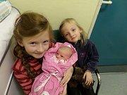 Tea Grygová se sestřičkama Elou a Sofií, Hrádek, nar. 27.12., 48 cm, 2,63 kg, Nemocnice Třinec.