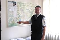 Ředitel Městské policie ve Frýdku-Místku Milan Sněhota (na snímku) si rozdělení města na okrsky pochvaluje.