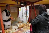Farmářské trhy v centru Frýdlantu nad Ostravicí.
