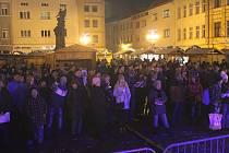 Akce Deníku Česko zpívá koledy na náměstí Svobody ve Frýdku-Místku.