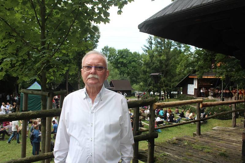 Jan Ryłko, předseda Hlavního výboru PZKO. Gorolski Świeto, Jablunkov, 1. srpna 2021.