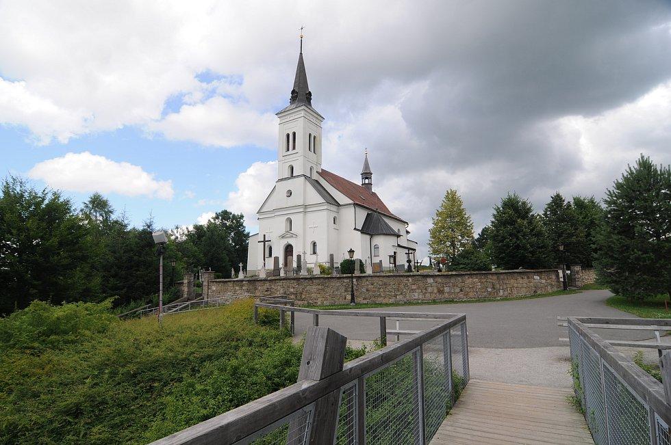Kostel sv. Ignáce z Loyoly v Malenovicích.