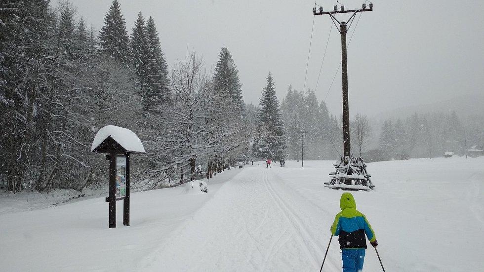 Běžecký okruh v Bílé.
