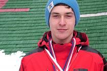 Naděje třineckých skokanů na lyžích Damián Lasota.