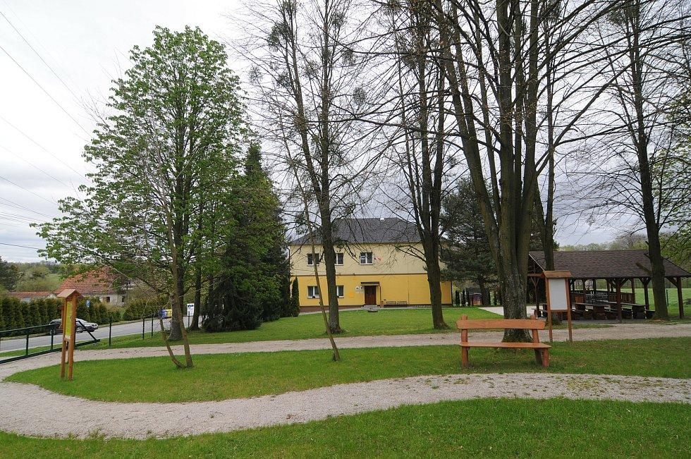 Centrum obce Kaňovice.