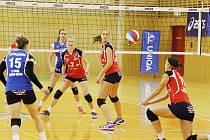 Volejbalitsky Frýdku-Místku skončily po základní části na sedmém místě tabulky se ziskem 14 bodů.  Ilustrační foto.