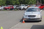 Lidé mohli otestovat své řidičské schopnosti.