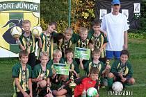 Vítězi měrkovického fotbalového turnaje pro hráče narozené v roce 2001 a mladší se stali domácí fotbalisté SportJunioru Kozlovice.