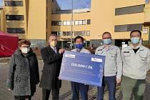Finanční příspěvek pro Nemocnici Frýdek-Místek.