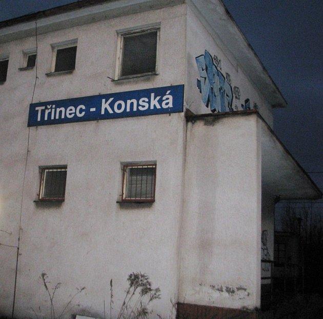 Železniční stanice v Třinci-Konské. Ilustrační snímek.