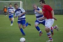 Fotbalisté Brušperku prohráli na domácím trávníku s Vlčovicemi 1:3.