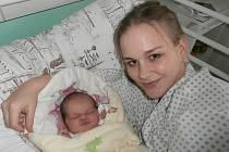 Natálie Klvaňová s maminkou, Frýdek-Místek, nar. 2. 2., 54 cm, 4,42 kg.  Nemocnice ve Frýdku-Místku.