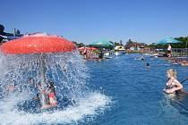 Aquapark Olešná ve Frýdku-Místku byl během víkendu v obležení milovníků koupání.