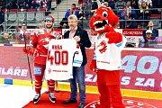 Třinecký Erik Hrňa si připsal jubilejní 400. start v dresu Ocelářů.