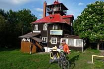 Horská chata Prašivá v Beskydech.