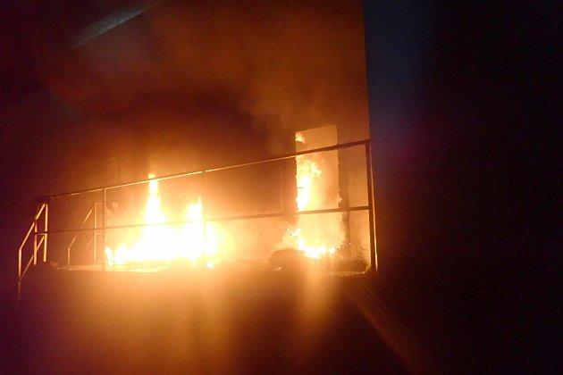 Požár supermarketu ve Frýdku-Místku.