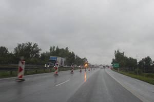 Nové omezení na dálnici D56.