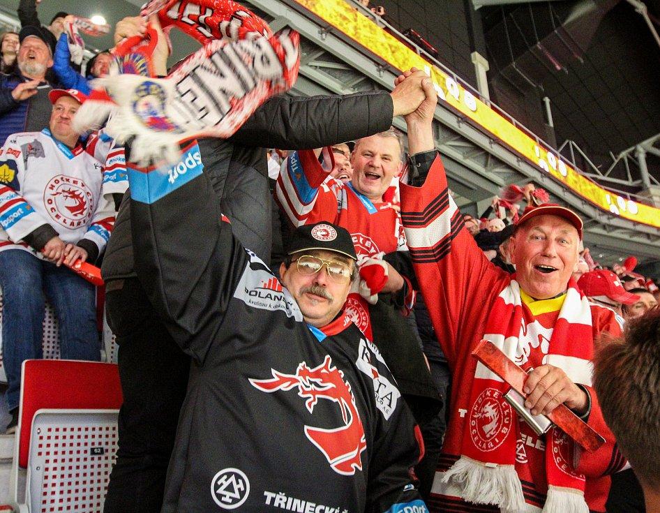 Hokejová extraliga - 7. čtvrtfinále play-off: Třinec .- Pardubice.