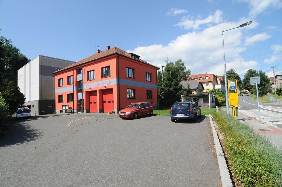 Hasičská zbrojnice v Krmelíně.