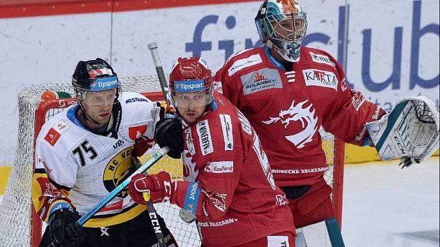 Hokejisté Třince v utkání 24. kola extraligy proti Litvínovu.