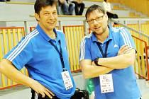 Trenérská dvojice Aleš Chrastina (vlevo) a Petr Mazur.