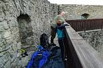 Vůbec poprvé návštěvníci nocovali na hradě Hukvaldy.