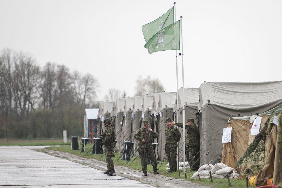 Cvičení aktivních záloh Hradba 2018 na letišti Leoše Janáčka (Mošnov), 13. dubna 2018 v Ostravě.