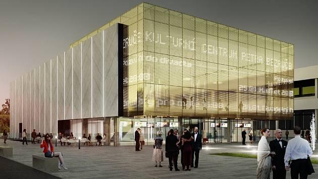 Kino Petra Bezruče by se mohlo dočkat rekonstrukce. Návrh, který uspěl v architektonické soutěži, počítá s fasádou z betonových panelů a prosklenou částí u vstupu.
