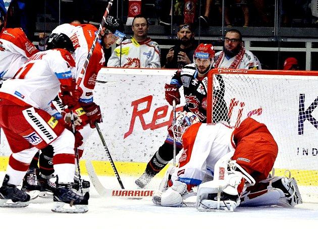Hokejisté Třince (včerném) podlehli doma Olomouci.