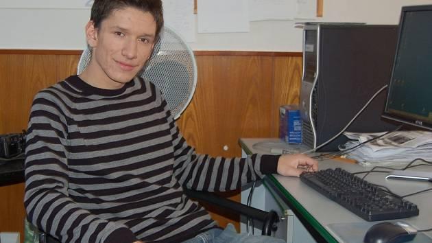 Martin Ševčík v redakci Deníku.