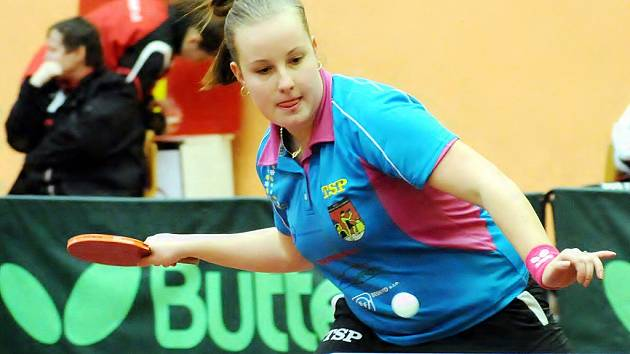 Karin Adámková bude v blížícím se play-off nejsilnější zbraní frýdlantských stolních tenistek. Ilustrační foto.