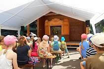 Děti v muzeu sledovaly vodnickou pohádku Loutkového divadla Kozlík.