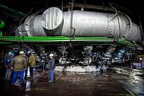 Třinecké železárny po 60denní odstávce znovu zafoukali vysokou pec číslo 6, 17. října 2021 v Třinci.
