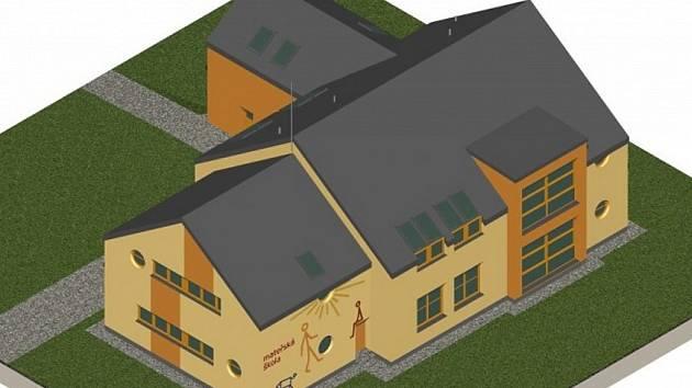 Vizualizace nové školky v Sedlištích.