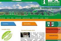 Webové stránky Beskydského informačního centra.